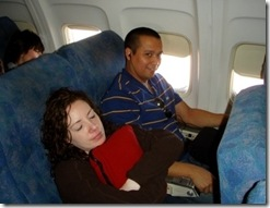 Tiffany and Mike on plane