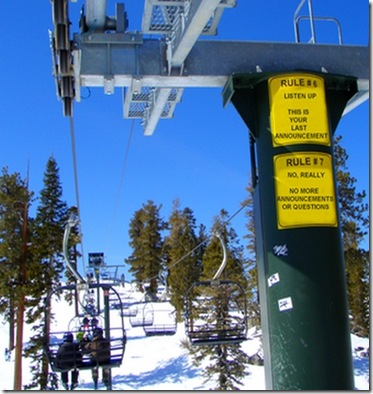 chairlift signs