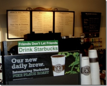 Starbucks' truth in adverstising