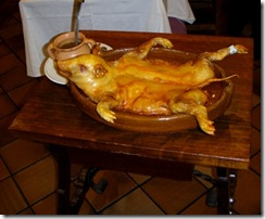 suckling pig on plate