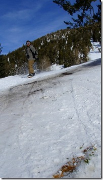 tahoe skiing on the rocks
