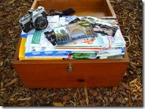 Chest of unsorted photos.