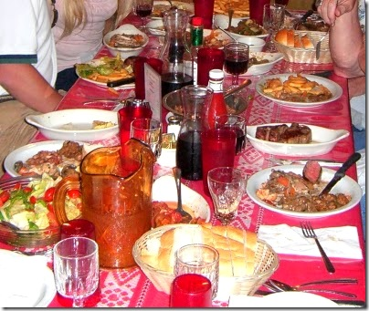 Louies table-o-food