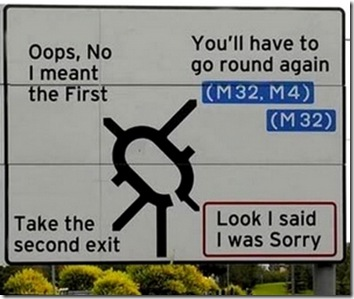 roundabout apology