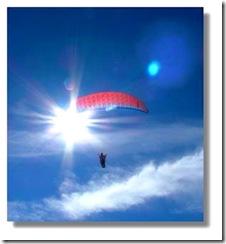 paraglider in sun