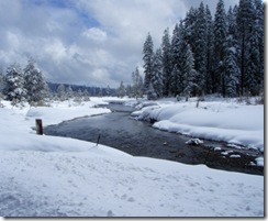 It's still winter in March in Plumas County.