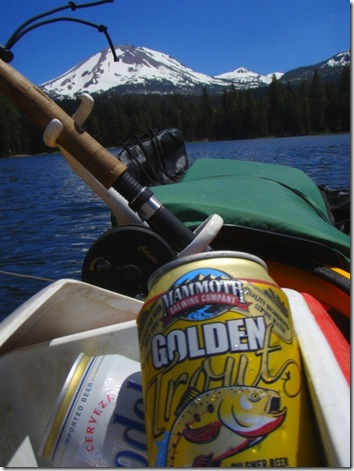Perfect beer for fishing.