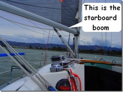 This is the starboard boom