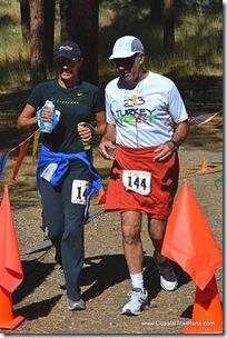 Alix and Frank at finish
