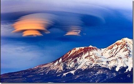 Mount Shasta lemurian clouds.