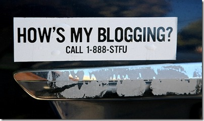 blogging bumpersticker