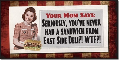 East Side deli wtf poster