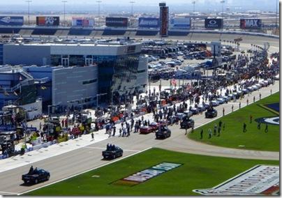 NASCAR chariot parade