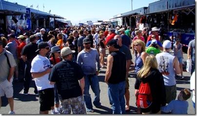 NASCAR pre-race crowd