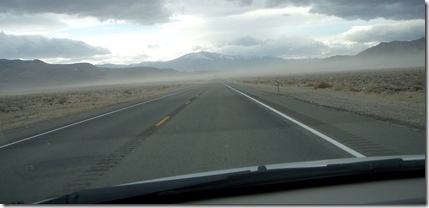 NV hwy dust storm