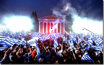 Even the Greeks demonstrate over their yogurt.