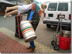 This beer is heavy, but not heavy beer.