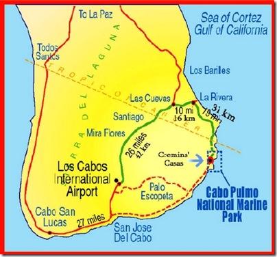 Baja Sur map
