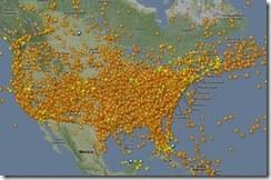 Those are all us fools flying on Thanksgiving.