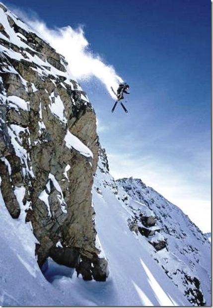 hucking a cliff