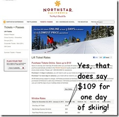 Northstar lift prices