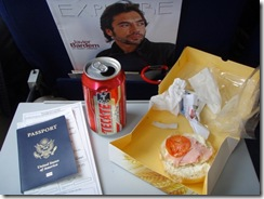 Breakfast with Bardem; the beer was mine.