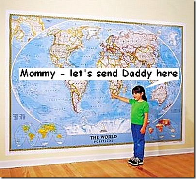 Let's send daddy away