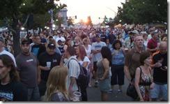 crowd on street