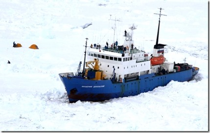 ship campers stuck in ice