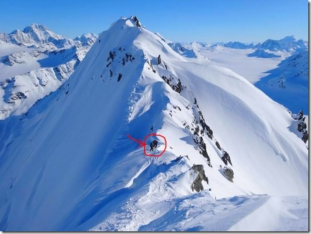 skiers on top