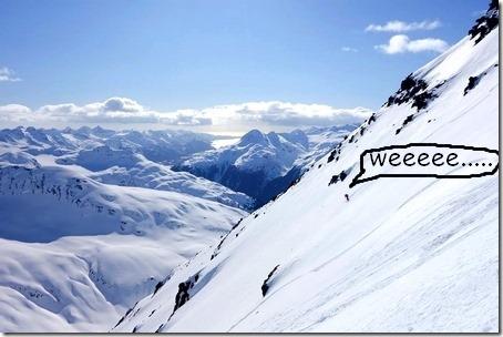 skier on big slope
