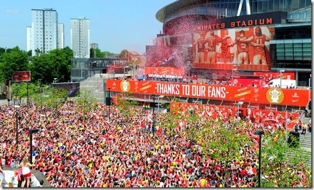 Emirates FA Cup celebration