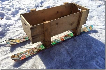 ski pine box