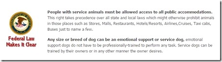 comfort animal federal law