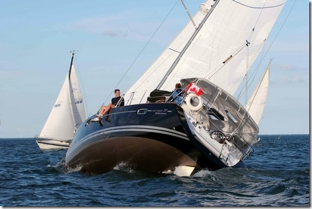 sailboat heeling