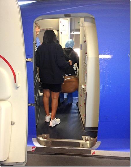 SWA comfort horse boarding plane