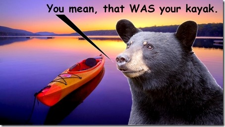 bear claims kayak