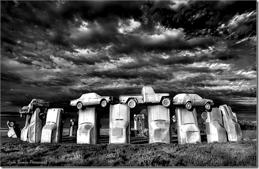 carhenge clouds